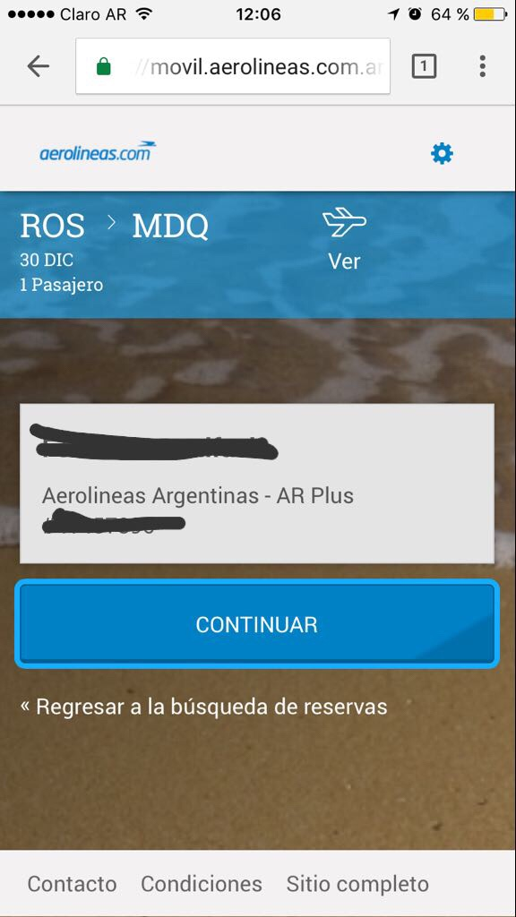 check in wallet aerolineas argentinas